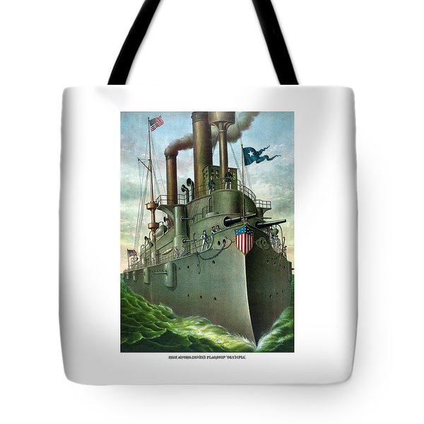 Admiral Dewey's Flagship Olympia  Tote Bag by War Is Hell Store