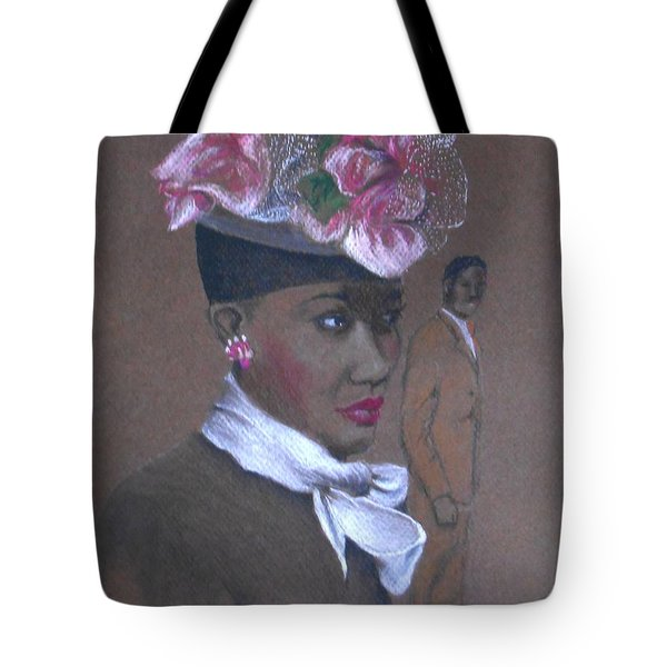Admirer, 1947 Easter Bonnet -- The Original -- Retro Portrait Of African-american Woman Tote Bag