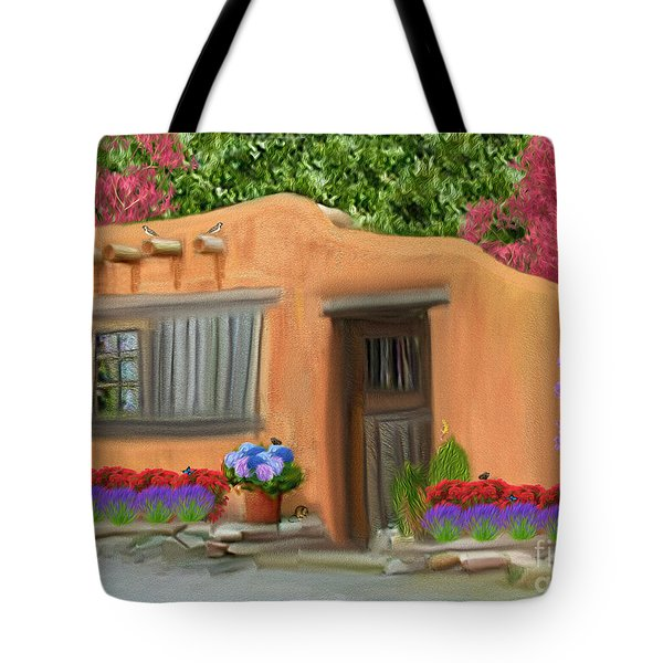 Adobe Home Tote Bag by Walter Colvin