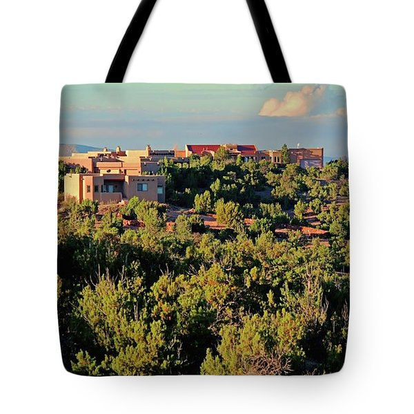 Tote Bag featuring the photograph Adobe Homestead Santa Fe by Diana Mary Sharpton
