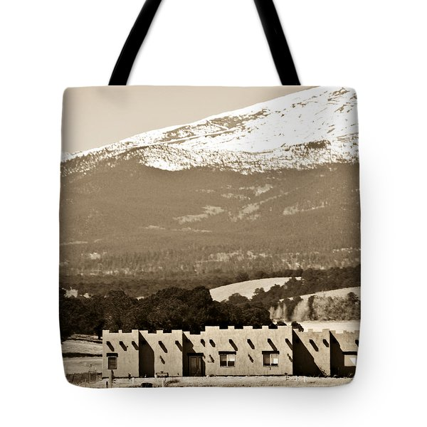 Adobe House Tote Bag by Marilyn Hunt