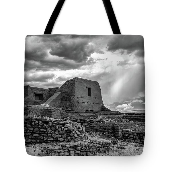 Tote Bag featuring the photograph Adobe, Stones, And Rain by James Barber