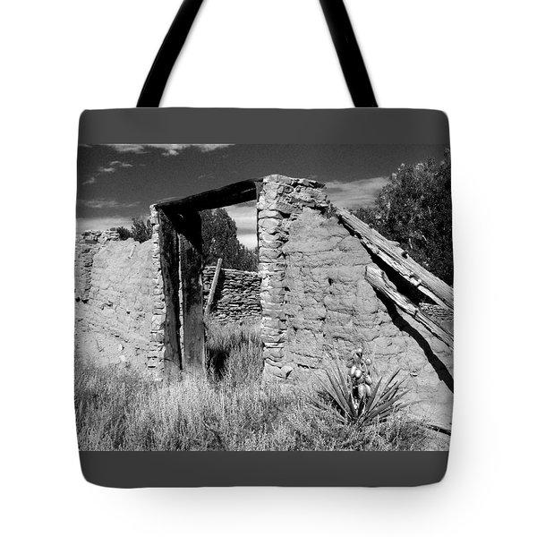 Adobe Wall And Door Tote Bag