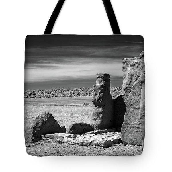 Tote Bag featuring the photograph Adobe Walls by James Barber
