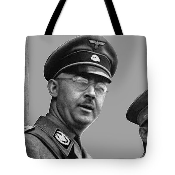 Adolf Hitler And Gestapo Head Heinrich Himmler Watching Parade Of Nazi Stormtroopers 1940-2015 Tote Bag
