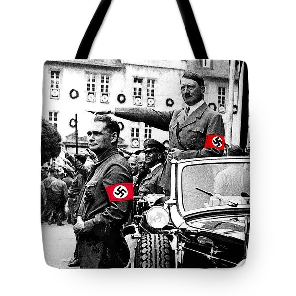 Adolf Hitler Giving The Nazi Salute From A Mercedes #3 C. 1934-2015 Tote Bag