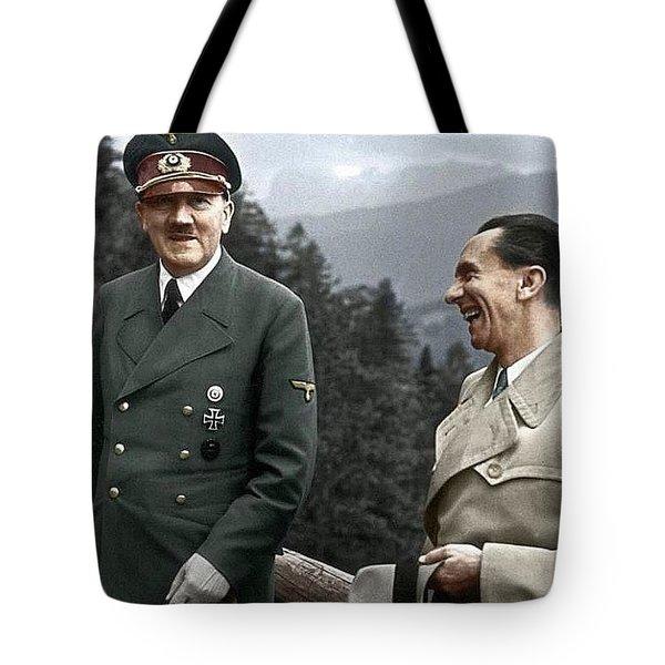 Adolf Hitler Joseph Goebbels Berghof Retreat  Number 2 Agfacolor Heinrich Hoffman Photo Circa 1942 Tote Bag