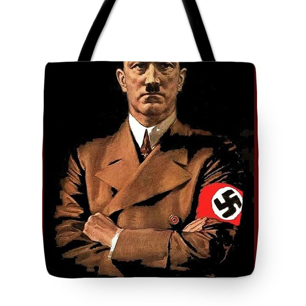 Adolf Hitler Painting Circa  1940 Color Added 2016 Tote Bag