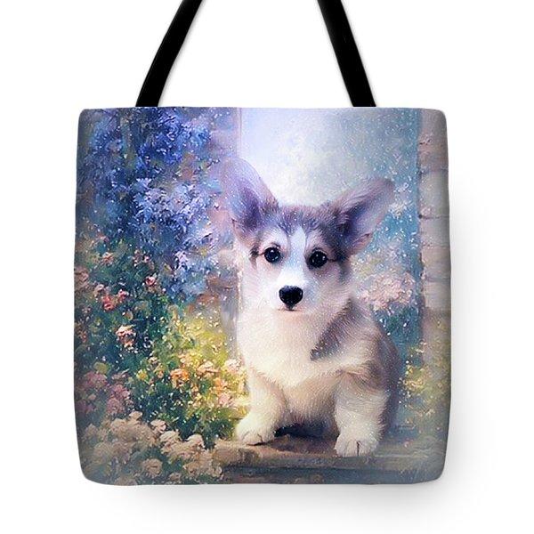 Adorable Corgi Puppy Tote Bag