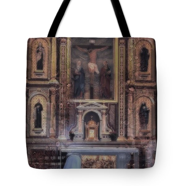 Tote Bag featuring the photograph Adoration Chapel 5 by Kate Word