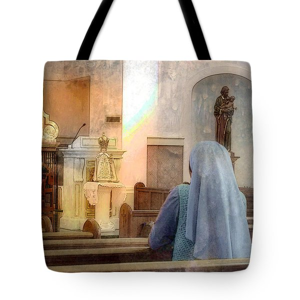 Adoration Chapel Tote Bag