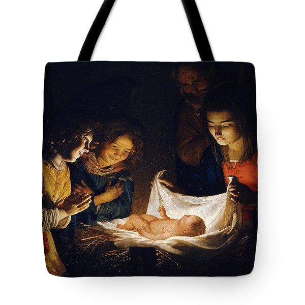 Adoration Of The Child Tote Bag
