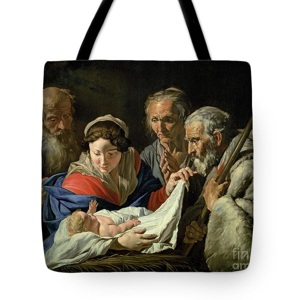 Adoration Of The Infant Jesus Tote Bag by Stomer Matthias
