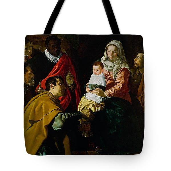 Adoration Of The Kings Tote Bag by Diego rodriguez de silva y Velazquez