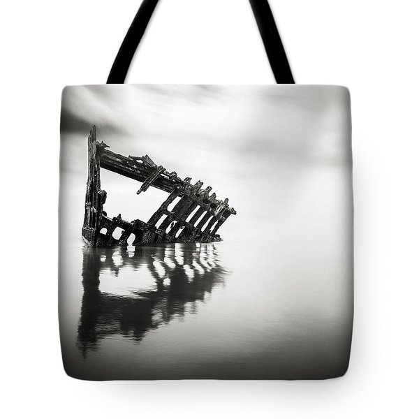 Adrift At Sea In Black And White Tote Bag