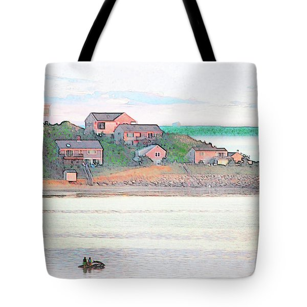 Adrift On The Bay At Sunset Tote Bag