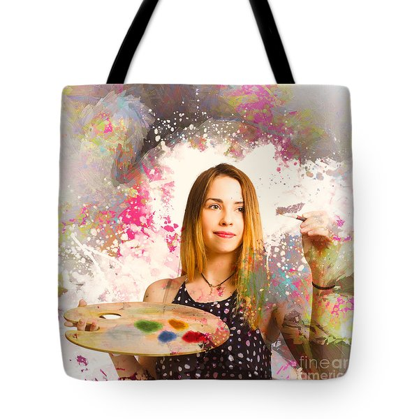 Tote Bag featuring the photograph Adult Art Class Painter by Jorgo Photography - Wall Art Gallery
