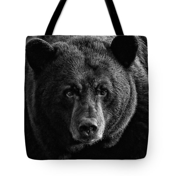 Adult Male Black Bear Tote Bag