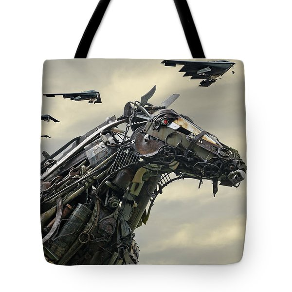 Advance Of The Machines Tote Bag by Christopher McKenzie