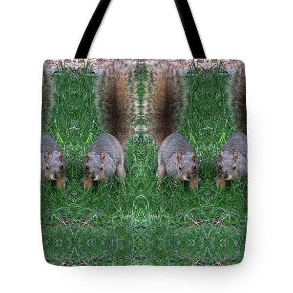 Advancing Army Of Squirrels Tote Bag
