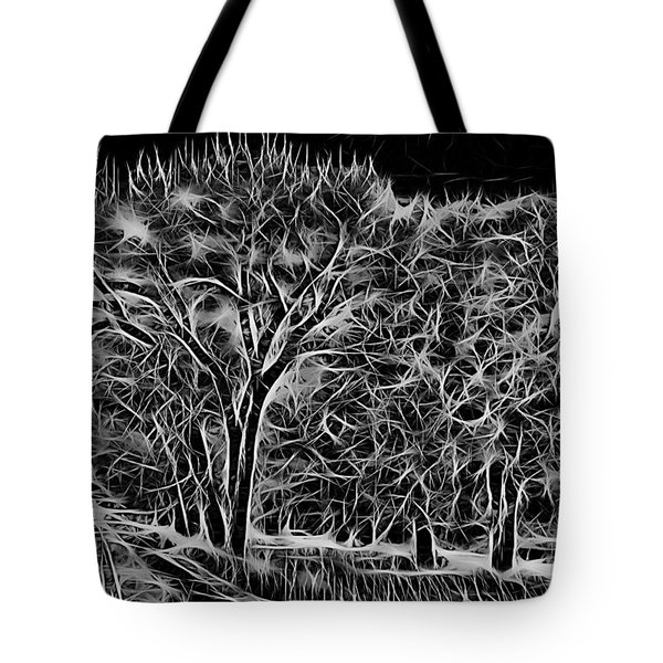 Advent Trees Tote Bag by Aliceann Carlton