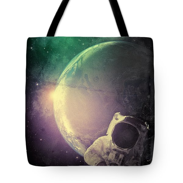 Adventure In Space Tote Bag by Phil Perkins