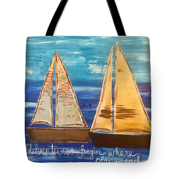 Adventures Begin Tote Bag