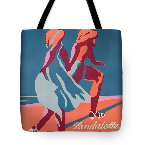 Advertisement For Bally Sandals Tote Bag by Druck Gebr