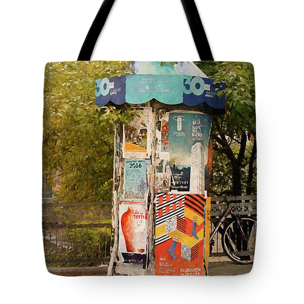 Advertising Pillar  Tote Bag