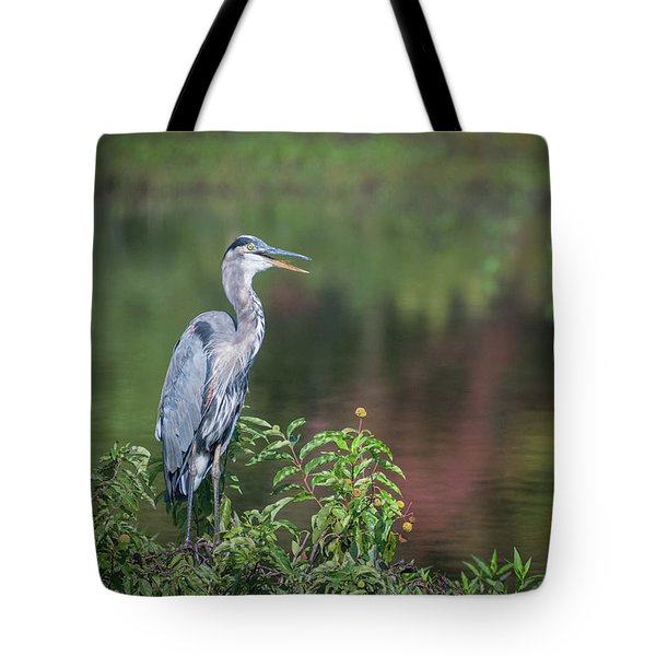 Advice From A Great Blue Heron Tote Bag