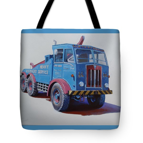 Tote Bag featuring the painting Aec Militant Lloyds by Mike Jeffries