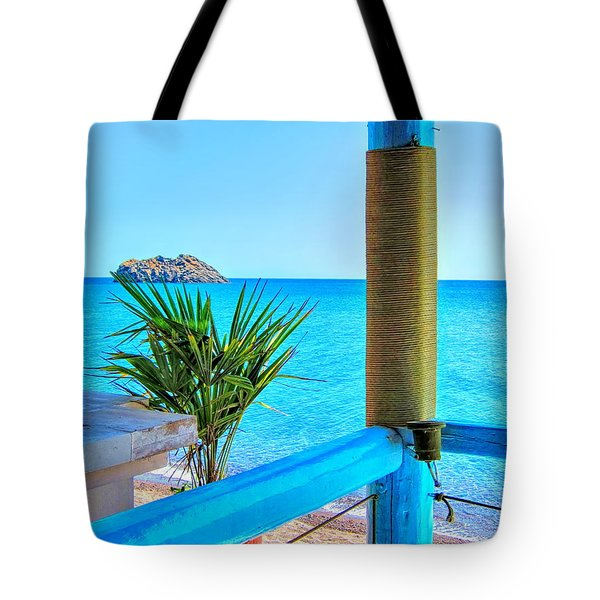 Aegean Blue Tote Bag