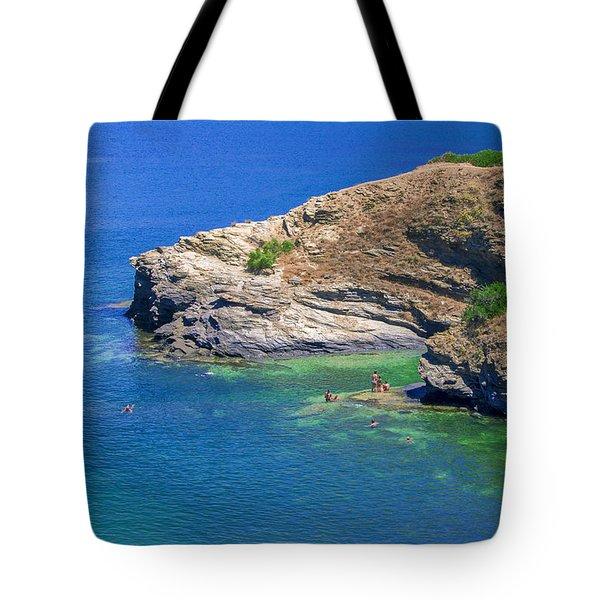 Aegean Coast In Bali Tote Bag