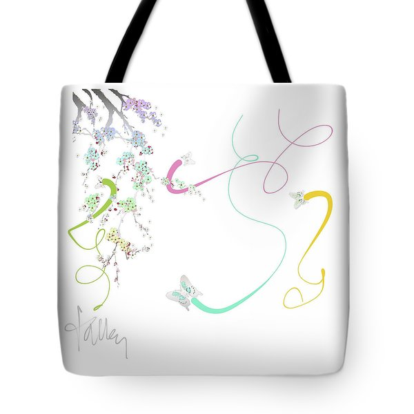 Tote Bag featuring the mixed media Spring Fervor by Larry Talley