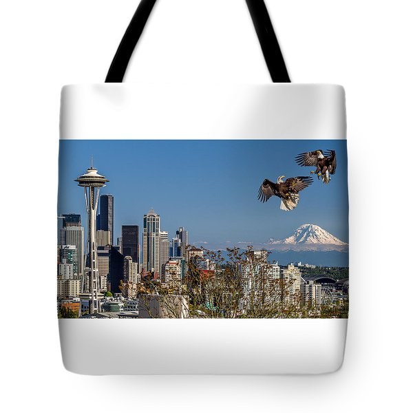 Aerial Battle Tote Bag