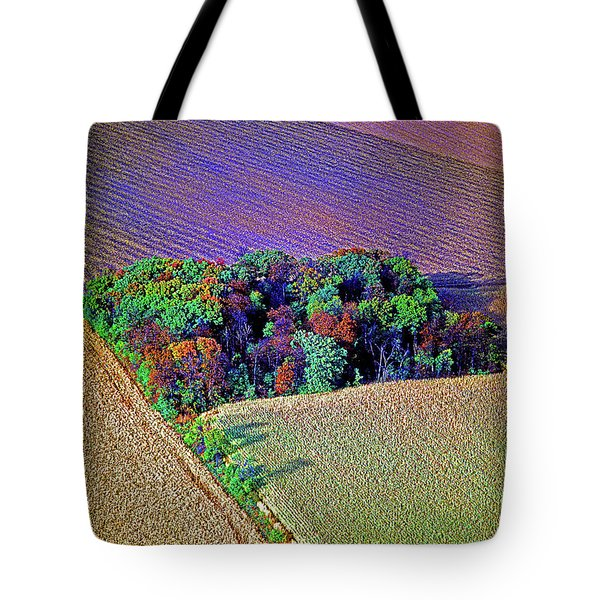 Tote Bag featuring the photograph Aerial Farm Tree Top Grove  by Tom Jelen