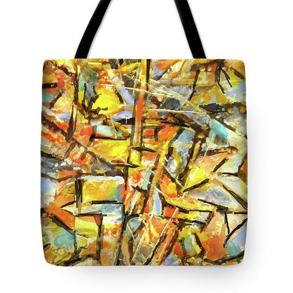Aerial In Gold Tote Bag