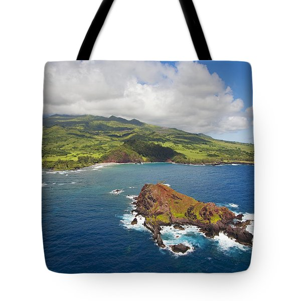Aerial Of Alau Islet Tote Bag by Ron Dahlquist - Printscapes