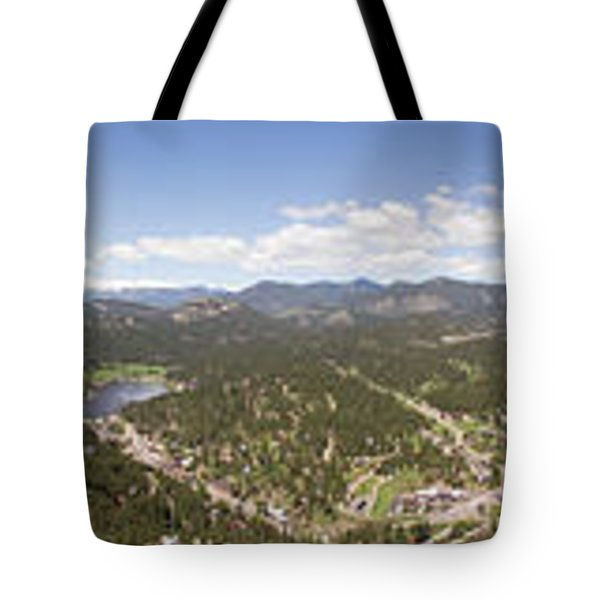Aerial Pano Of Evergreen Tote Bag