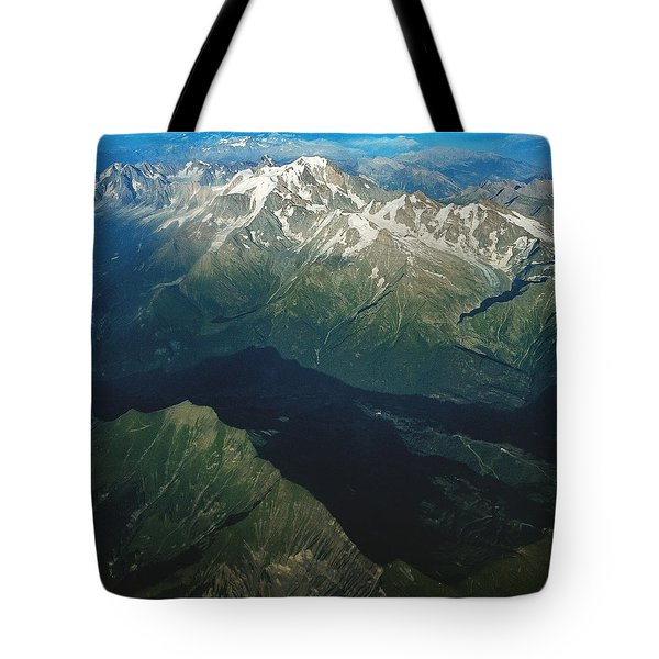 Aerial Photograph Of The Swiss Alps Tote Bag
