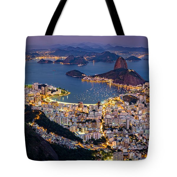 Tote Bag featuring the photograph Aerial Rio by Mihai Andritoiu