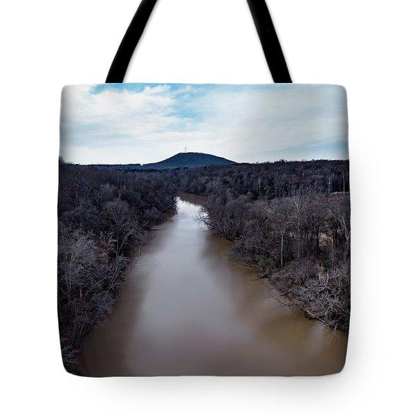 Aerial River View Tote Bag