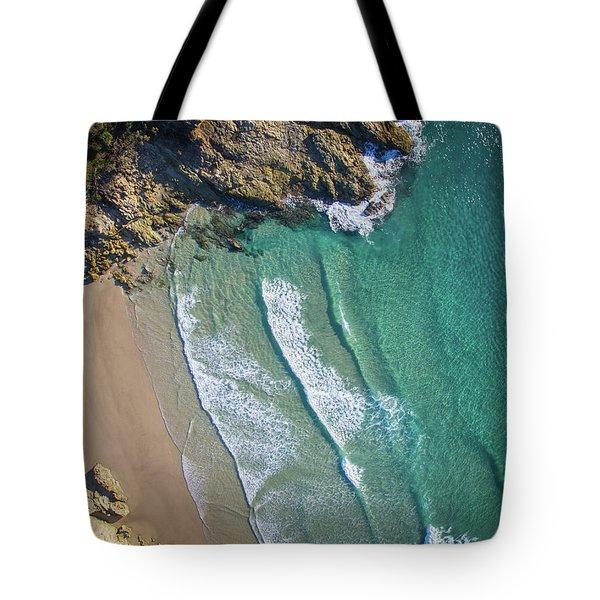 Aerial Shot Of Honeymoon Bay On Moreton Island Tote Bag