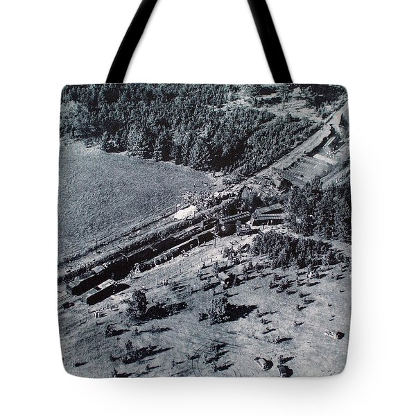 Aerial Train Wreck Tote Bag