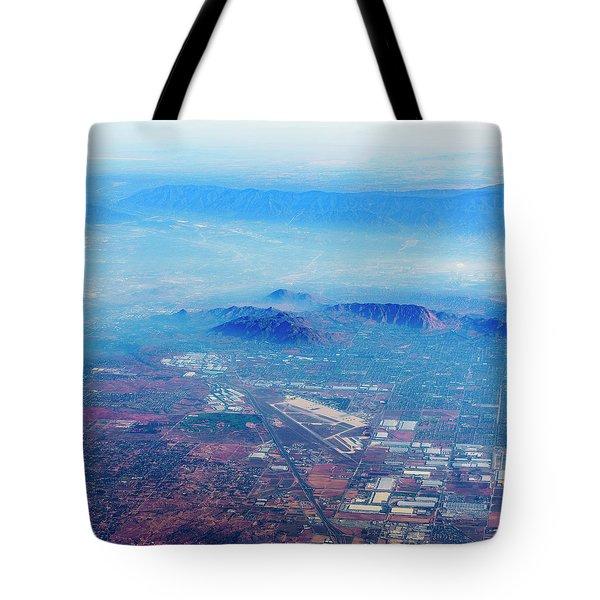 Aerial Usa. Los Angeles, California Tote Bag by Alex Potemkin