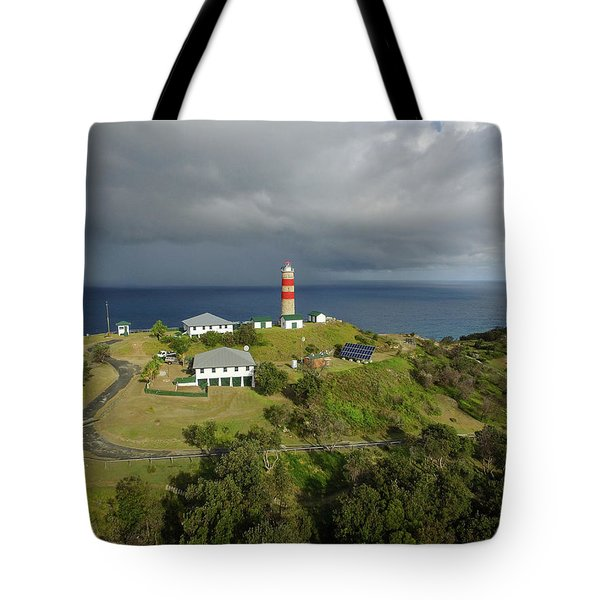 Aerial View Of Cape Moreton Lighthouse Precinct Tote Bag