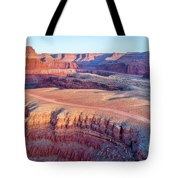 aerial view of Colorado RIver canyon Tote Bag