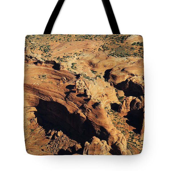 Aerial View Of Delicate Arch Tote Bag