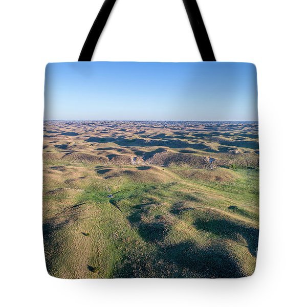 aerial view of Nebraska Sand Hills  Tote Bag