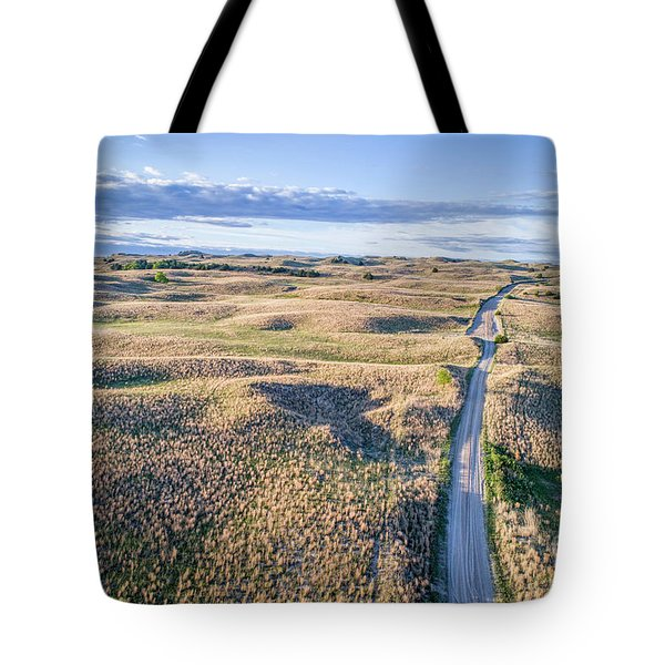 aerial view of Nebraska Sandhills  Tote Bag